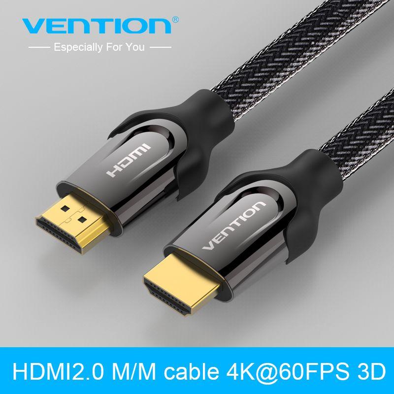 Vention כבל Hdmi 1 M 2 M 3 M 5 M 8 M 10 M Hdmi זכר ל Hdmi זכר מחבר כבל מתאם 2 0 V 1080 P 3d מקרן למחשב Hdtv Ps3 Projector Hd Hdmi Digital Cable