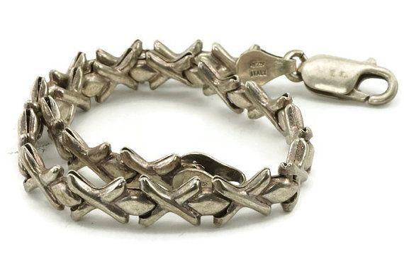 Sterling Silver Xoxo Bracelet By Hoffs On Etsy