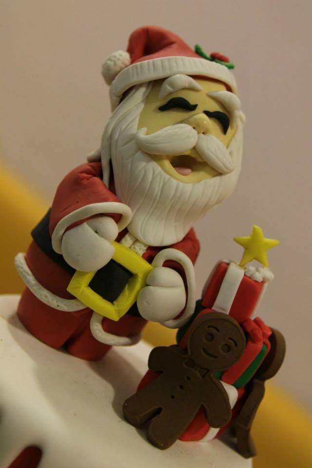 topper torta Natale Omar Busi