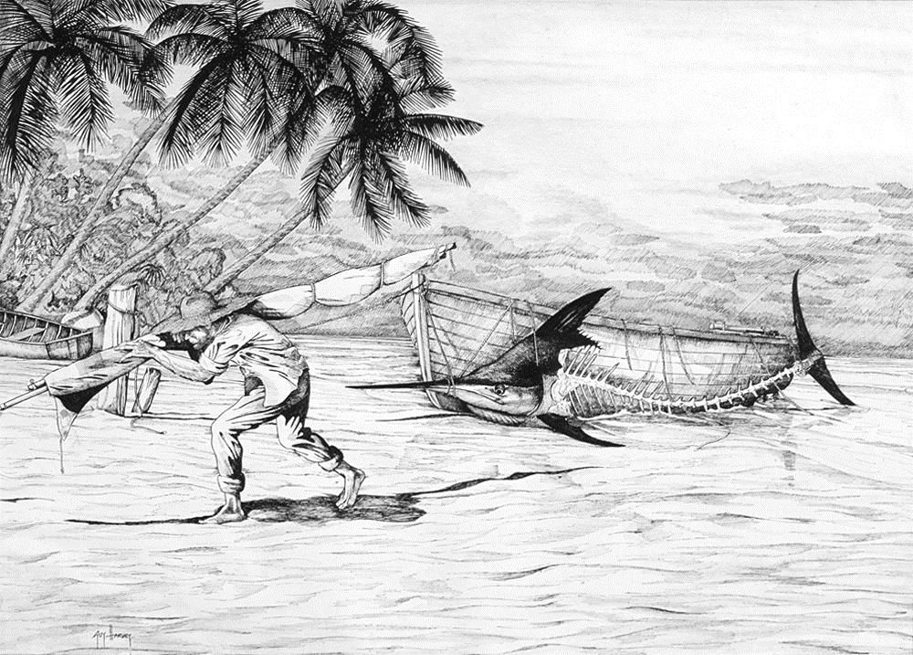 Quote From Old Man And The Sea: GUY HARVEY ARTIST And Others Well