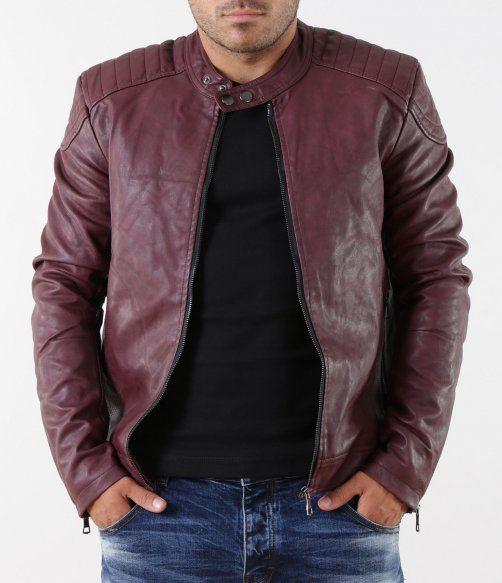 968d5d4332c Елегантно яке от еко кожа | Мъжки Якета | Bomber jacket, Jackets ...
