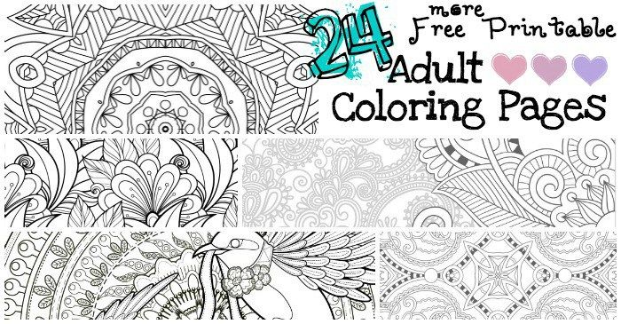 24 More Free Printable Adult Coloring Pages | Pages to Color ...