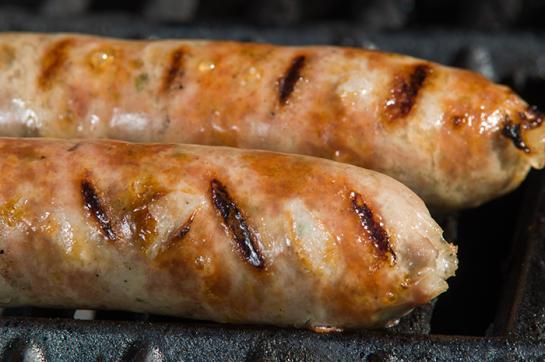 Homemade Jalapeno Cheddar Bratwurst on the Grill. Cant wait yo use my sausage stuffer!