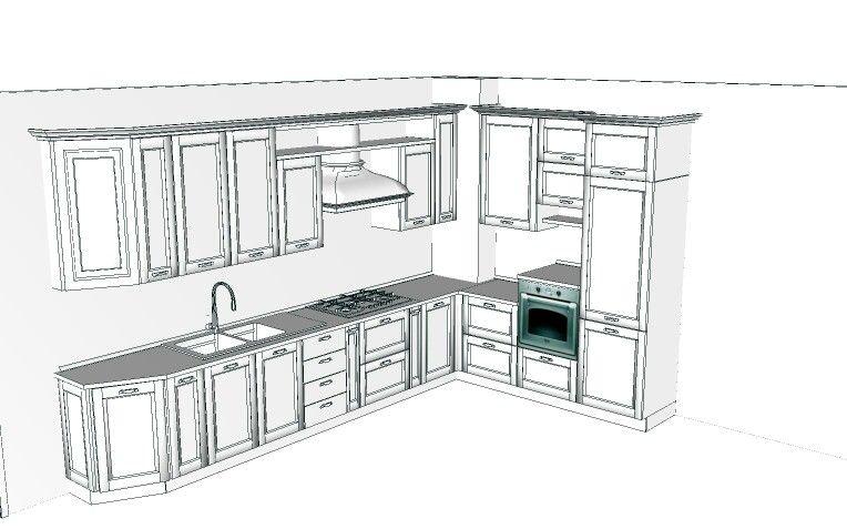 Cucina neo classica Arredi 3D Pinterest Cucina