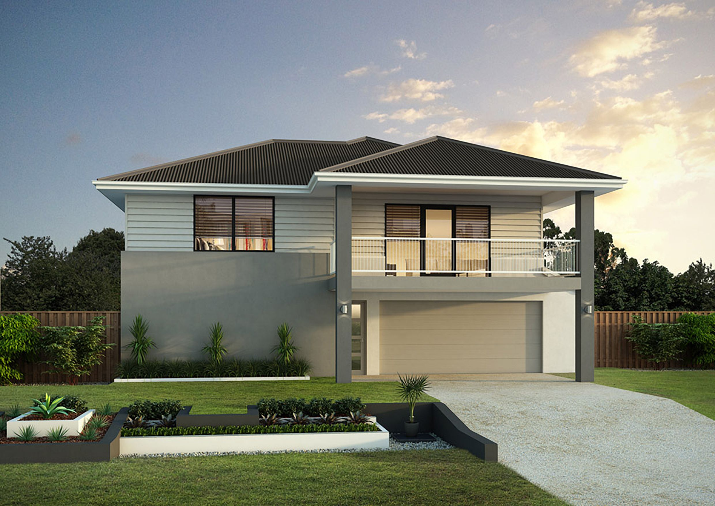 Best Hip Roof With A Covered Balcony Modern Roofing Roof 400 x 300