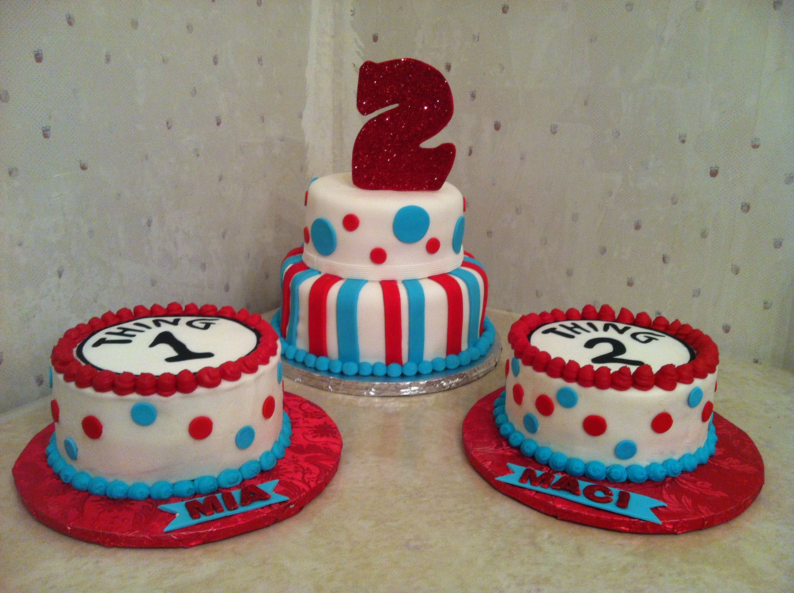Thing  Thing  Nd Birthday Cake With Smash Cakes To Go With For - 2nd birthday cake designs