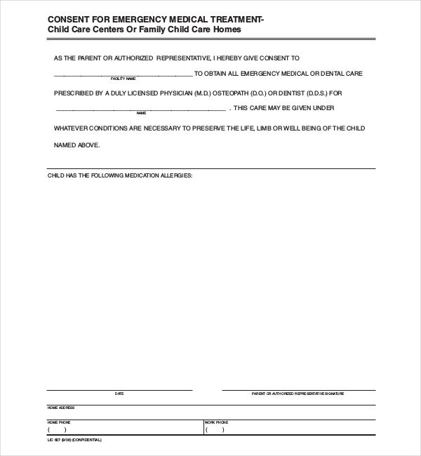 sample child medical consent forms hunting permission letter for - free child medical consent form