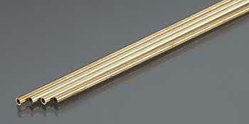 K & S Thin Wall Brass Tube 2mm OD x .225mm Wall (4)