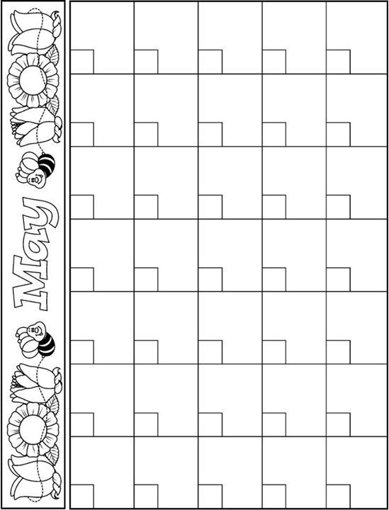May calendar template Projects to Try Pinterest Preschool - preschool calendar template