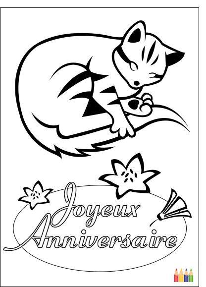 Coloriage D'anniversaire Pour tonton Beautiful Dessin Colorier Joyeux Anniversaire… | Coloriage ...