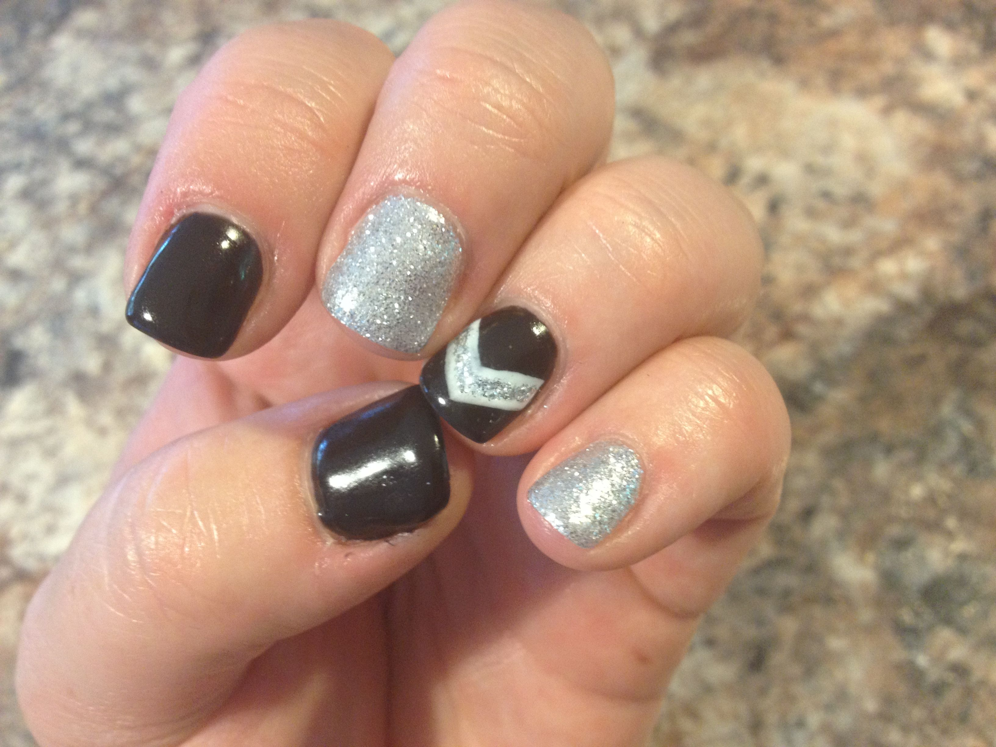 Black & Silver Chevron
