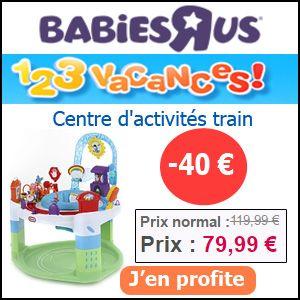 #missbonreduction; 1,2,3 vacances: 40 € d'économie pour votre commande sur le Centre d'activités train sur Babiesrus. http://www.miss-bon-reduction.fr//details-bon-reduction-Babiesrus-i855465-c1825921.html
