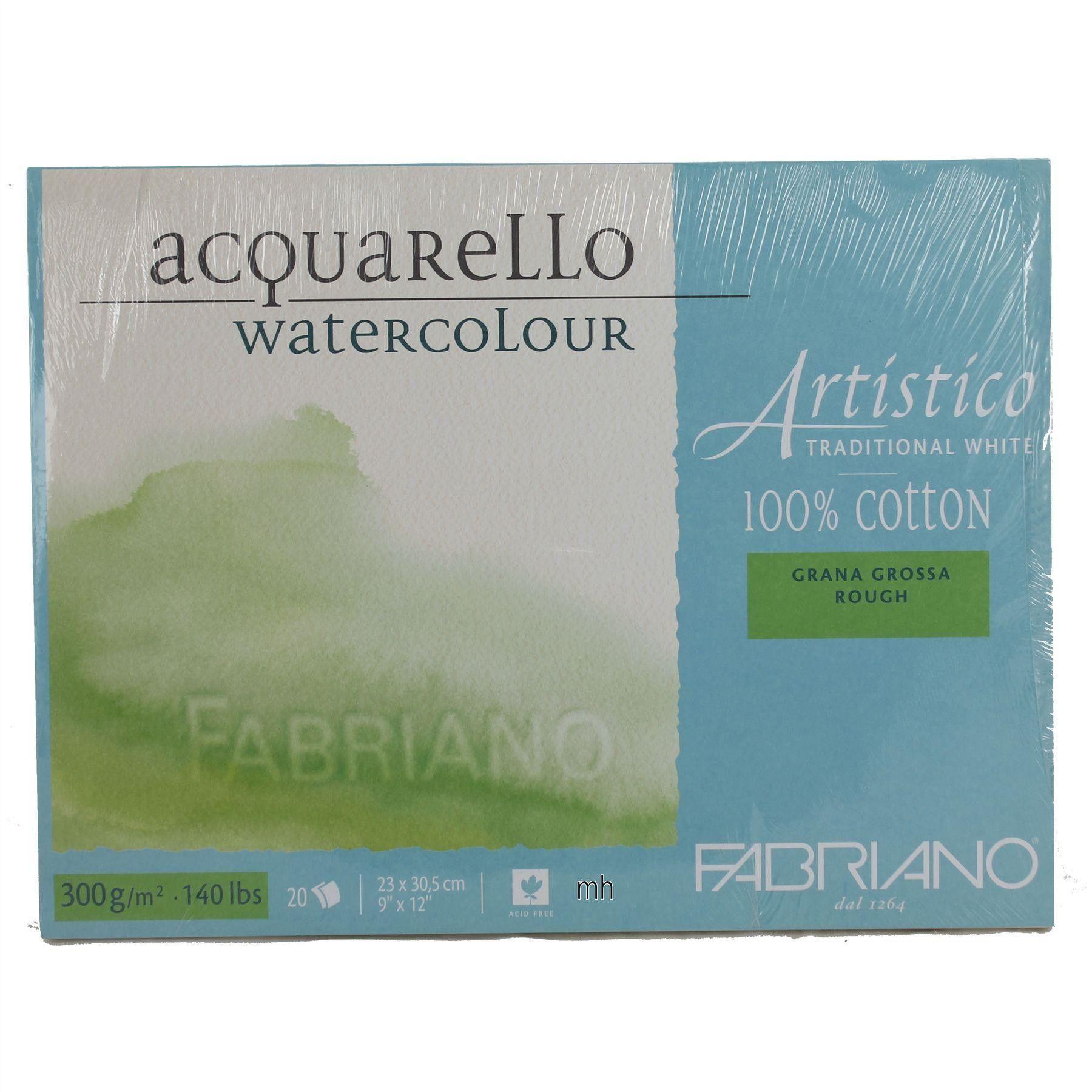 Fabriano Artistico Watercolour Block Pad 100 Cotton Rough 300gsm
