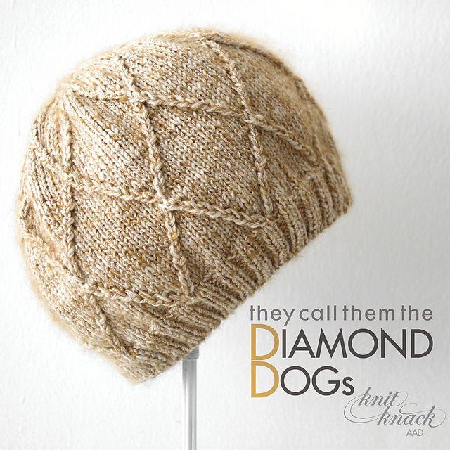 Ravelry: DIAMOND DOGs Hat pattern by Amanda A Davidson