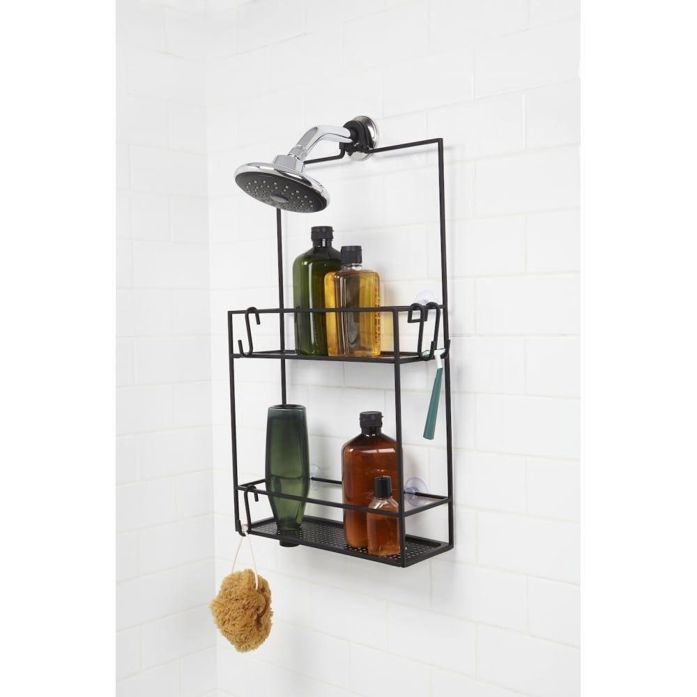 umbra cubiko shower caddy black black by design funky bathroombathroom