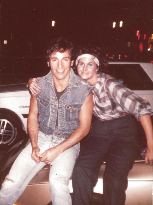 Bruce and a lucky girl, could be just a friend... cherokee #brucespringsteen