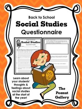 Social studies questionnaire back to school my tpt shop learn about your students thoughts and feelings about social studies at the start of the year by having them complete this two page questionnaire fandeluxe Gallery
