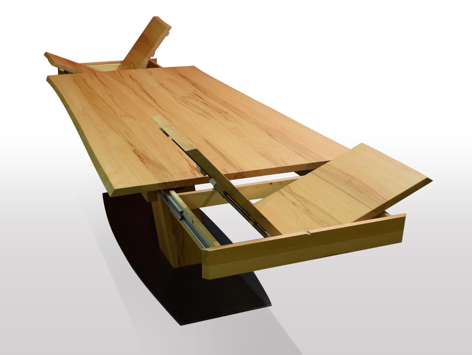 Tisch mit Baumkante Kernbuche Breite 100cm / Länge