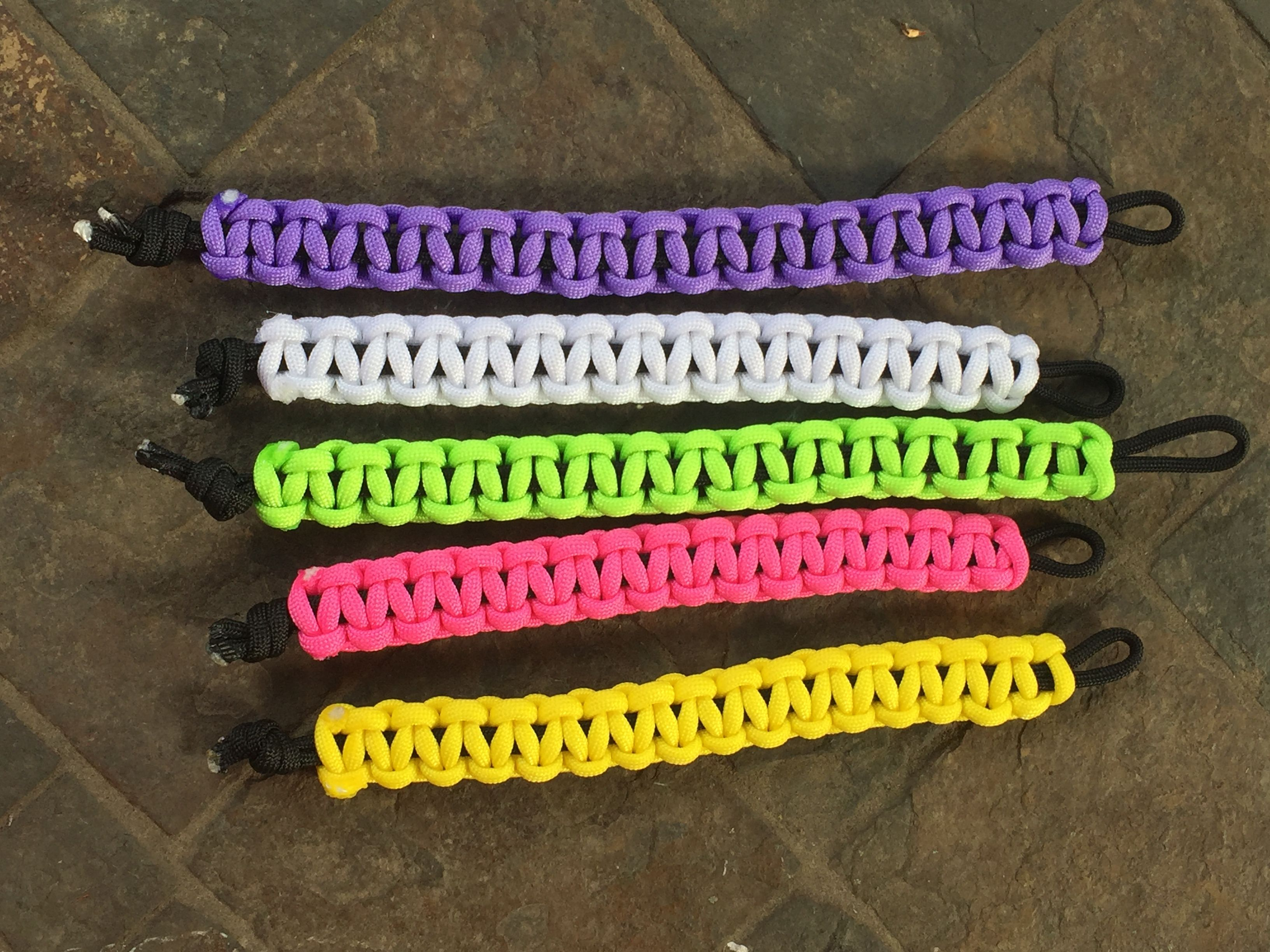 Lime Green Pink White Lavender Purple And Yellow Paracord