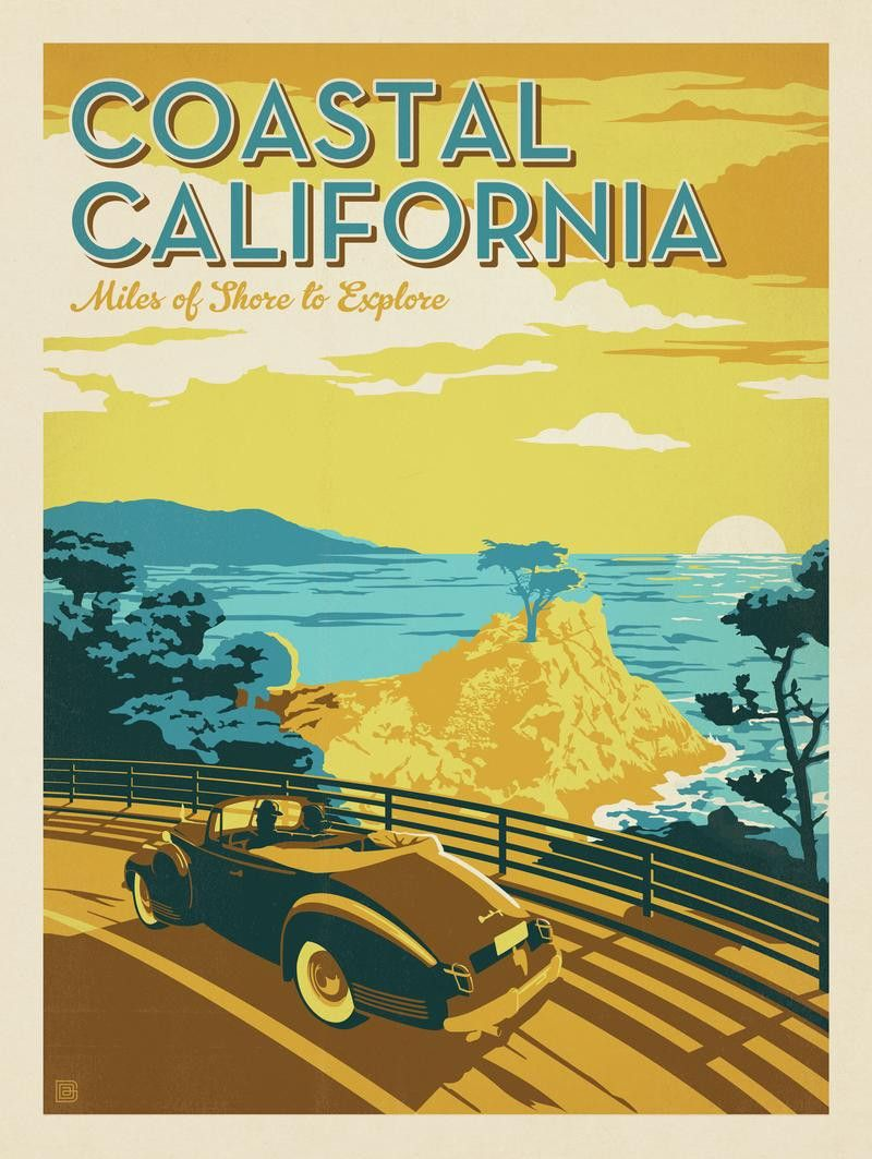 Romantic travel posters of the early 20th Century inspired ...