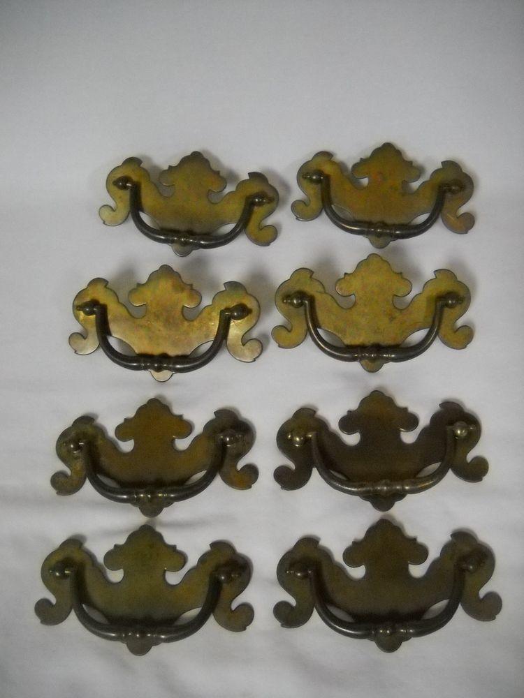 Brass Antique Drawer Pulls Ebay