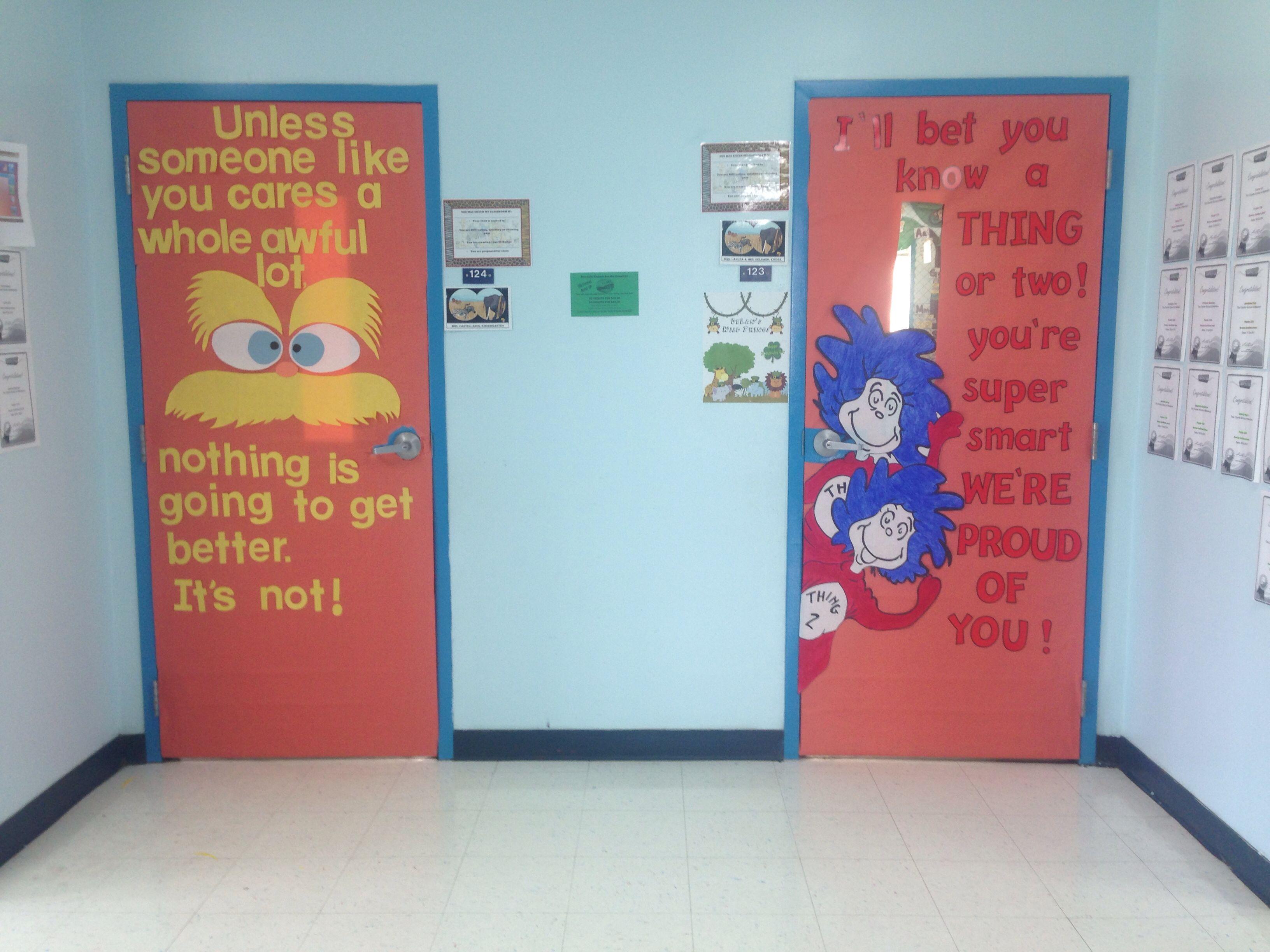 Classroom Decoration Dr Seuss : Dr seuss door decoration for my classroom pinterest