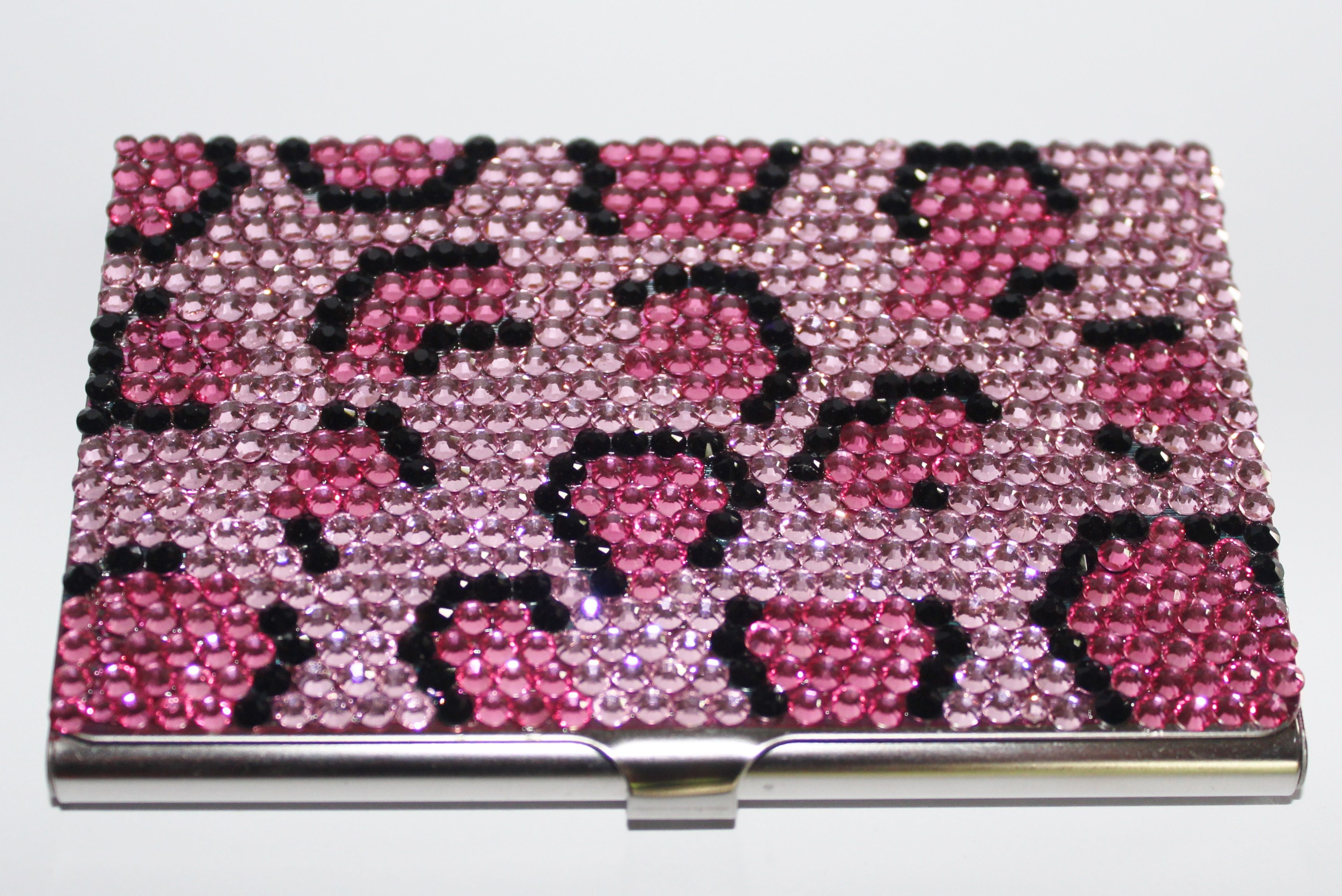 Rhinestone Pink Leopard Print Business Card Holder ~ http ...