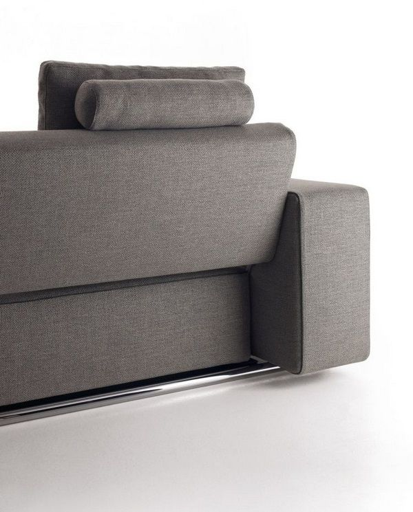 Sofa Bed In Gray For Modern And Functional Living Room - Decor10