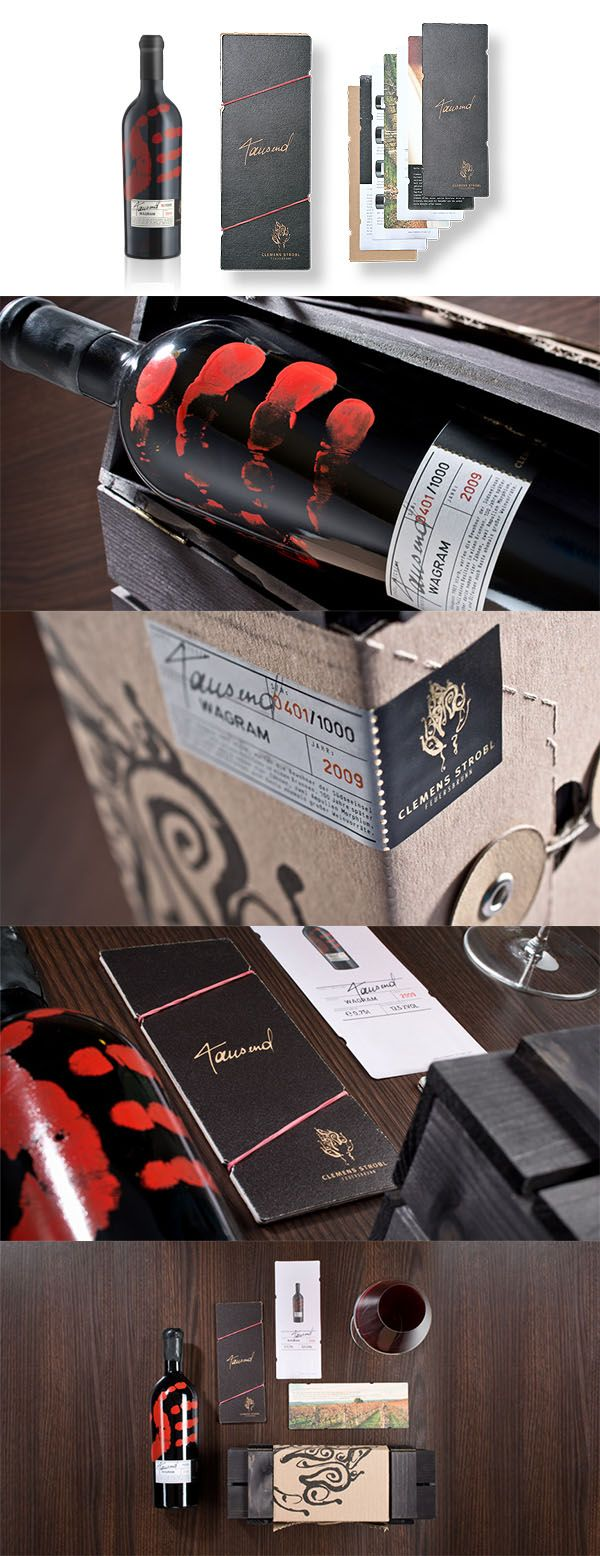 WEINMANUFAKTUR CLEMENS STROBL // Packaging Design:  By www.strobl-kriegner.com #packaging #design #wine #bottle #exclusive #marketing #creative