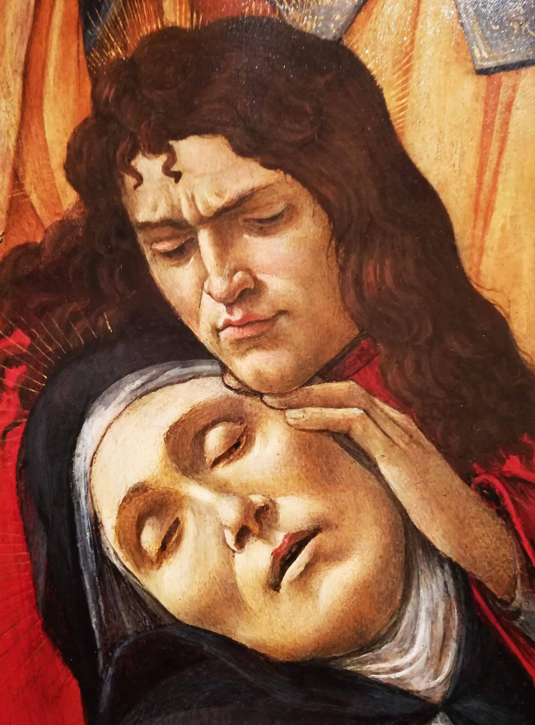 Compianto sul cristo morto dettaglio sandro botticelli firenze museo poldi pezzoli