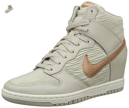 best website 842db 4bc66 ... Grey White 528899 Nike Women s Dunk Sky Hi Sneaker (7) - Nike sneakers  for women ...