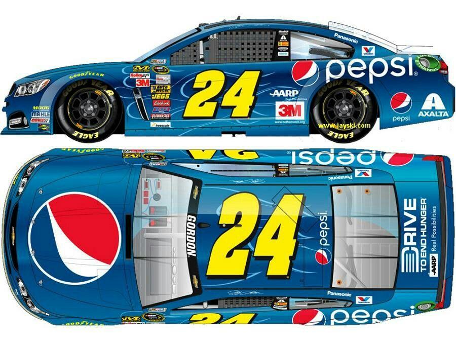 2015 Pepsi Paint Scheme for Jeff Gordon JGFinalLap Carros