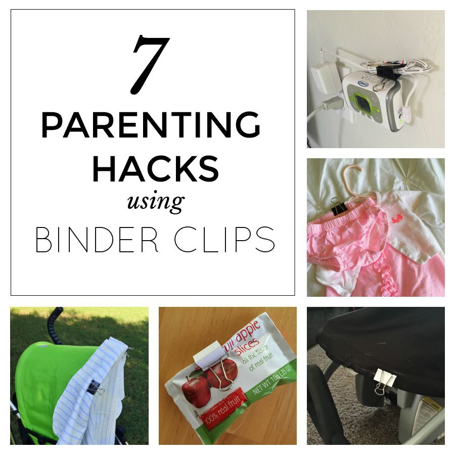 7 Parenting Hacks Using Binder Clips (With Images