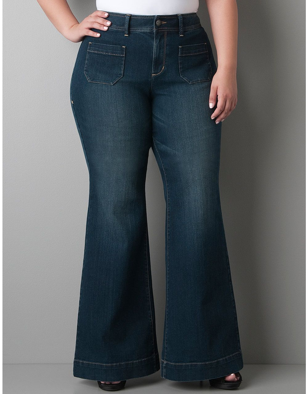 2d4859b08a72b0 Plus size Denim bell bottom by Lane Bryant | Beautiful curves...and ...