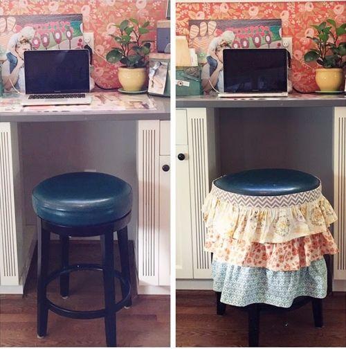 Reciclar muebles c mo tunear viejos taburetes de cocina 3 for Reciclar muebles viejos