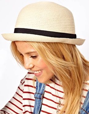 Enlarge Straw Roll Brim Boater *