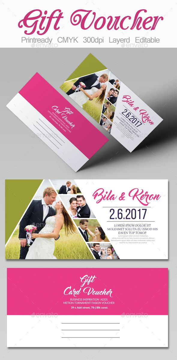 Wedding Gift Voucher Template Cards Invites Print Templates