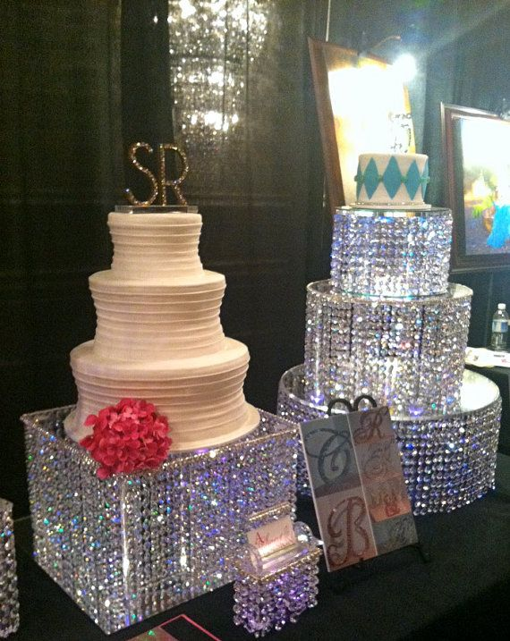 Addon Of Led Lights To Crystal Cake Stand By
