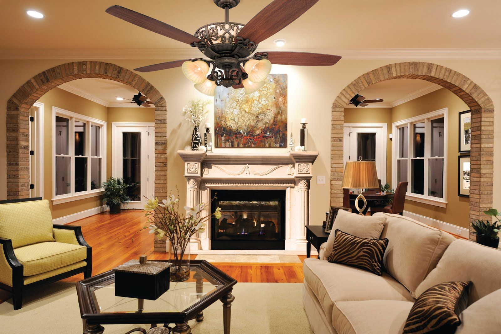 fascinating living room decor ideas with recessed lighting and tv