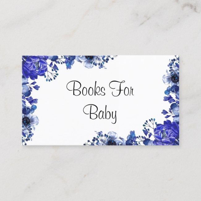 Cornflower Blue Peonies Books For Baby Business Card | Zazzle.com #bluepeonies