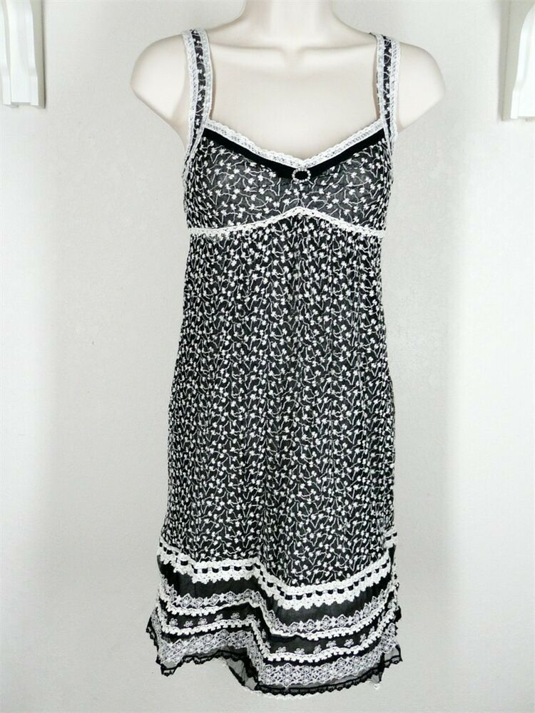 Cynthia Steffe Black Dress Lace Overlay Sz 2 Xs Strappy