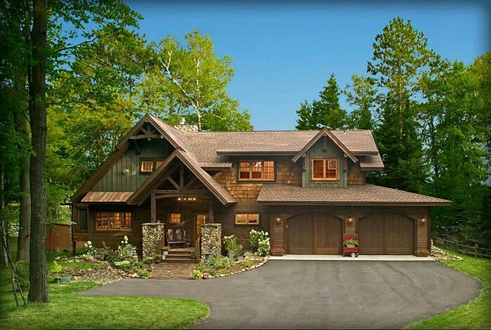 Cabin Exterior Welcome Home Pinterest Rustic Houses Exterior House Exterior Rustic House