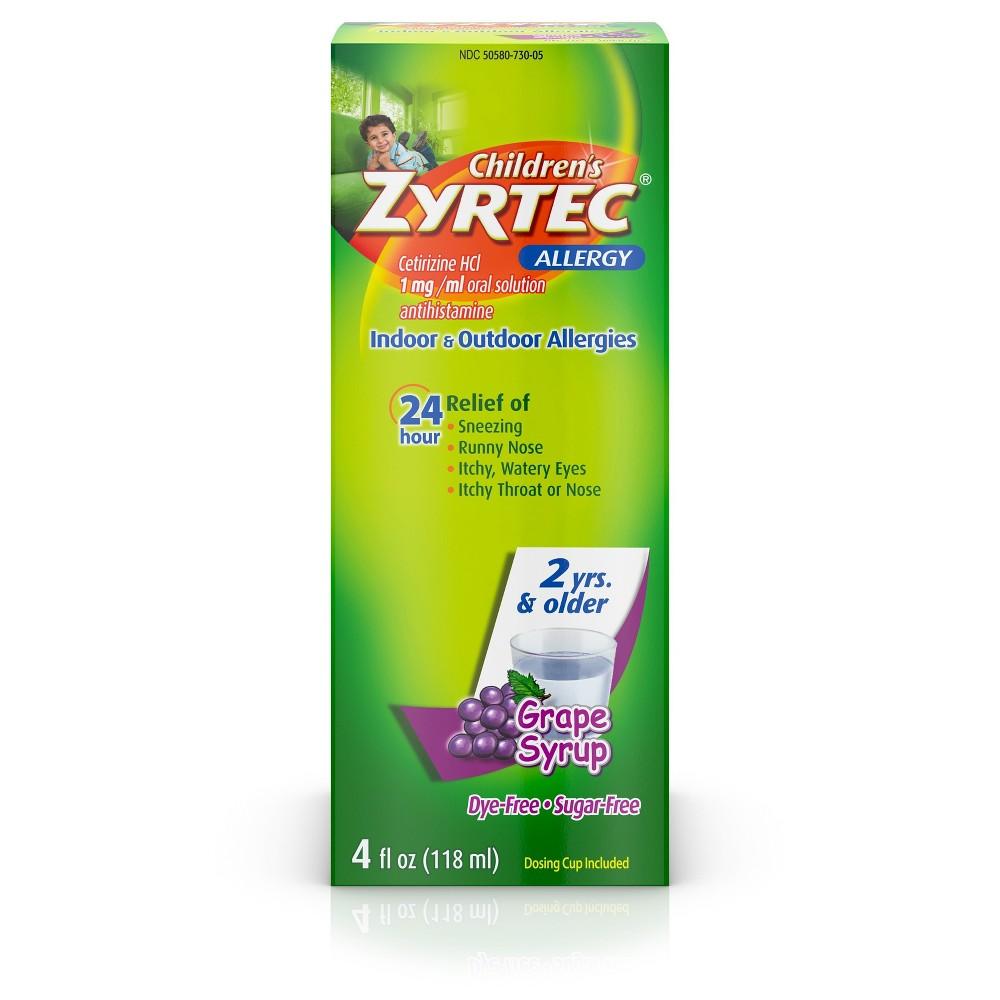 Children S Zyrtec 24 Hour Allergy Relief Syrup Grape
