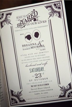 Oh So Beautiful Paper Michael Breanna S Antique Book Wedding Invitations