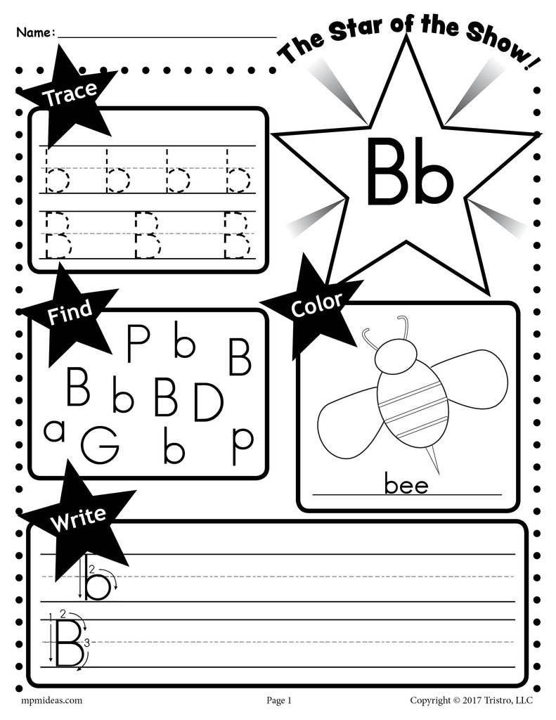 26 Alphabet Worksheets Tracing Coloring Writing More Letter B Worksheets Tracing Worksheets Preschool Letter S Worksheets