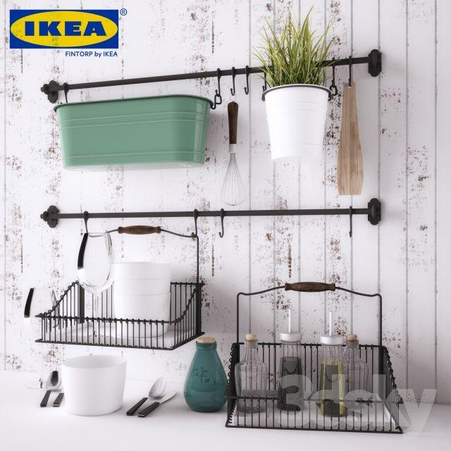 Kitchen Island Accessories: 3d Models: Other Kitchen Accessories - IKEA FINTORP