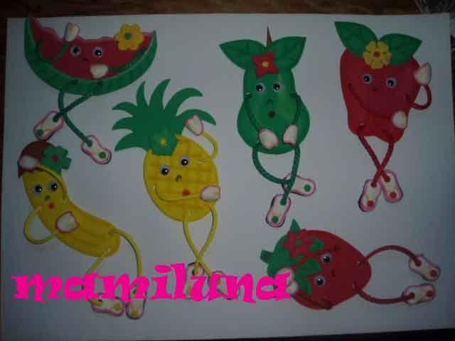 Frutas en foami para la nevera patrones - Imagui | Lúa | Pinterest ...