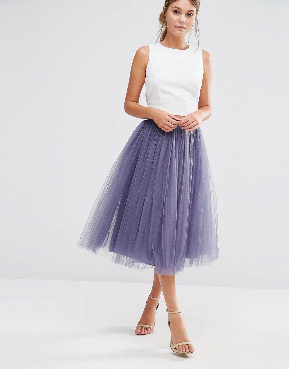 Little Mistress Tulle Midi Prom Skirt in 2019  e54b9fa5e6d