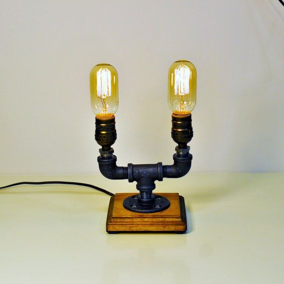 steampunk lampe lumiare dacclairage de table edison tuto