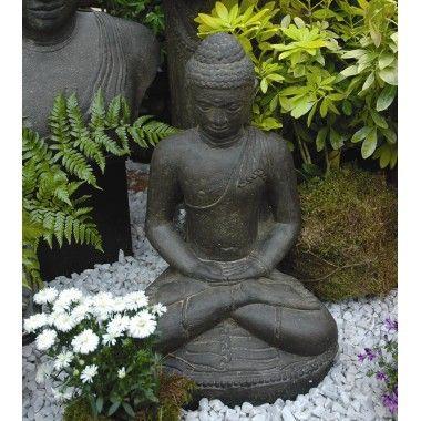 Statue Bouddha Assis Meditation H 60 Cm Avec Images Statue